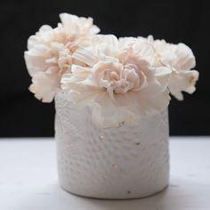 Vases, Pots, Impression Textile, Nude Color, Decoration, Home Decor, White Porcelain, Ceramics, Rain