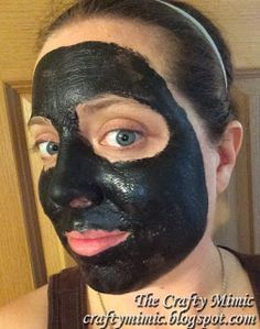 Charcoal Peel-Off Face Mask; Yes, I put Elmers Glue on my face! The Crafty Mimic