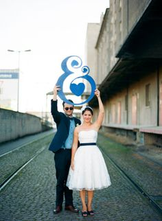 Ampersand sign - Switzerland BBQ Wedding from Miguel Varona