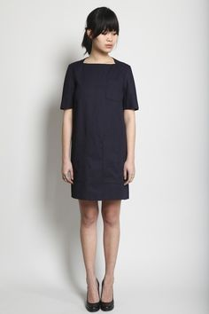 so cute. i love simple dresses like this. too bad they're not as simple to sew!