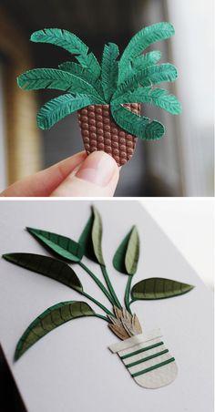 Paper craft cacti