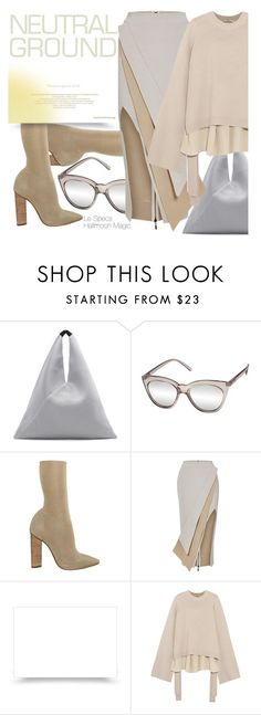 """Cool Neutrals"" by smartbuyglasses-uk ❤ liked on Polyvore featuring MM6 Maison Margiela, Le Specs, WithChic, Maticevski and TIBI"