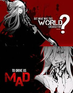 """""""But what was this world created for? To drive us mad"""" Anime: Black Butler Sad Anime, I Love Anime, Anime Manga, Black Butler Undertaker, Black Butler Anime, Anime Qoutes, Manga Quotes, Black Butler Quotes, Black Buttler"""