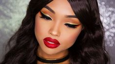 19 of 31 Days of Xmas: Glitter Winged Liner and Glitter Lips | CookieChi...