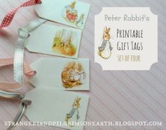 Strangers & Pilgrims on Earth: Peter Rabbit's Gift Tags ~ For Fun Friday! ~ Free Printable