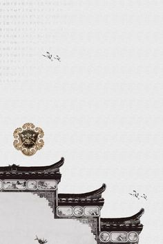 Chinese wind and ink traditional eaves Chinese Style Chinese Culture Ink Background image New Chinese, Chinese Culture, Chinese Style, Chinese Art, Arabesque Design, Interior Design Trends, Chinese Drawings, Chinese Element, Chinese Architecture
