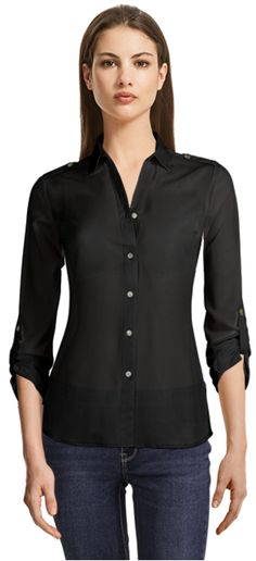 Dorette Blacelet Sleeve Blouse in Ivy Black Blouse, New Trends, Suits For Women, Shirt Dress, Female, Sleeves, Sweaters, Jackets, Shirts