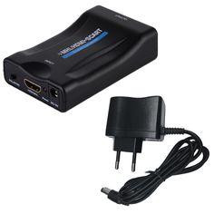 1080 P HDMI naar SCART Video Audio Upscale Converter AV Signaal Adapter HD Ontvanger TV DVD US/EU/UK Stekker Voor HD TV DVD doos