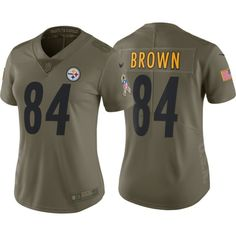 bfb34df74 Nike Women s Home Limited Salute to Service Pittsburgh Steelers Antonio  Brown  84 Jersey