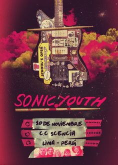 Sonic Youth (poster by Jonathan Castro)