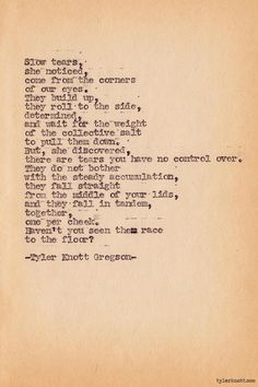 Typewriter Series #296 by Tyler Knott Gregson