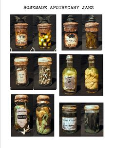Seeing Things: Halloween apothecary jar how to's and apothecary jar labels