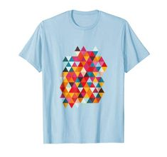 Triangles, Summer Colors, Cool T Shirts, Hipster, Vintage, Cool Stuff, Amazon, Mens Tops, Fashion