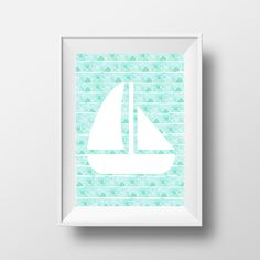Anchor mint green | Cute Phone Wallpaper | Pinterest ...