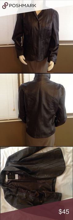 Live a Little Brown leather jacket NWT 100 percent leather. New with tags. Excellent condition Size Large live a Little Jackets & Coats