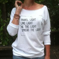 Travel Light,...Spread the Light. French Terry Pullover – SuperLoveTees   Graphic Tees Inspired By Love