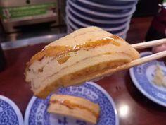 -Kurazushi- It's a conveyer-belt sushi chain popular. A thick omelet $ 1.05 http://alike.jp/restaurant/target_top/593872/