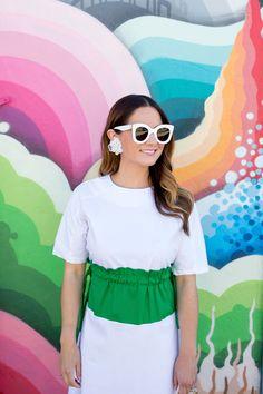 d26dafc6306 Celine White Marta Sunglasses Dress With Sneakers