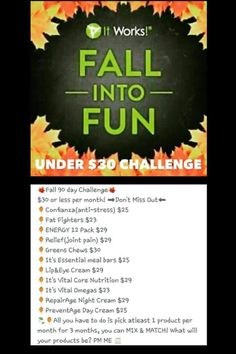 It Works has something for everyone at affordable prices! #under30 #itworks click on the pin to order today with that 40% discount! find me on facebook @ www.facebook.com/megjacobsondistributor