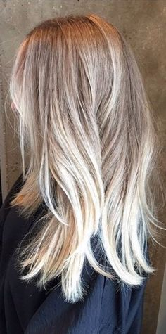 Blonde balyage ombre More
