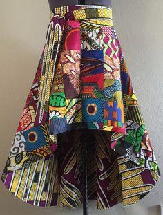 Wax africains impression haute basse Maxi une coupure par WithFlare