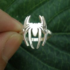 Silver Spider Ring Spiderman Ring Spider Man Ring by yhtanaff, $35.00