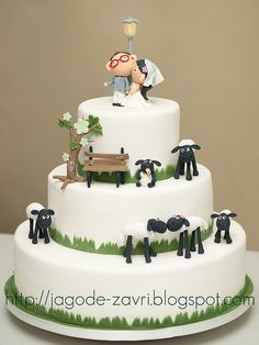 Shaun the sheep wedding cake by matejad, via Flickr