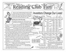 INVENTIONS AND INVENTORS - Enjoy an Inventions and Inventors-themed Two-Page Activity Set and Crossword Puzzle with this discounted bundle! Includes the following products:  • Inventions and Inventors Two-Page Activity Set   • The Work of Inventing Crossword Puzzle • Inventions and Inventors Reading Log and Certificate Set