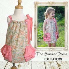 Pillowcase dress pattern, Girls sewing pattern PDF, Childrens sewing pattern, Easy sewing pattern, Instant Download, SUMMER DRESS