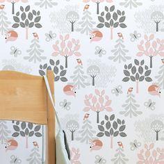 Tree Top Pink designed by Swedish designer Cecilia Lood.   ___ #wallpaper #kidsroom #scandinaviandesign #wallmural #photowall #homedecor #interiordesign #scandistyle