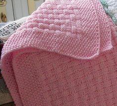 Basketweave Baby Blanket - Knitting Pattern