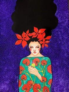 "hülya özdemir ""with all my love"" watercolour on paper) Love Canvas, Canvas Art Prints, Canvas Wall Art, Arte Indie, Illustration Art, Illustrations, Arte Pop, Art Plastique, Portrait Art"