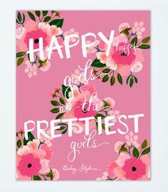 Happy Girls 11 x 14