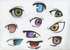 this is some ideas for anime or manga hair style.o if ur using any of the hair. anime or manga hair styles Anime Head Shapes, Anime Chart, Chibi Eyes, How To Draw Anime Eyes, Manga Hair, Manga Artist, Art N Craft, Female Anime, I Love Anime