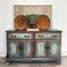Sold! Beautiful multi colored sideboard buffet/Shipping Included