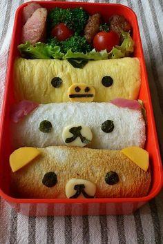 幼稚園 お弁当 サンドイッチ サンドウィッチ 簡単 かわいい キャラ