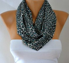 ON+SALE++Leopard++Infinity+Scarf+Shawl+Circle+Scarf++Loop+by+anils,+$17.55