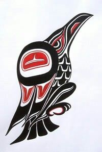 Raven bringer of the light Haida Kunst, Inuit Kunst, Haida Art, Inuit Art, Native American Symbols, Native American Design, Native Design, American Indian Art, Haida Tattoo