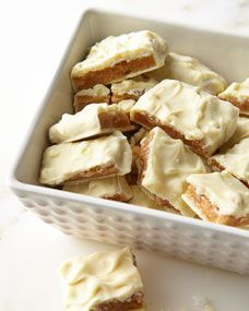 White Chocolate Cashew Brittle