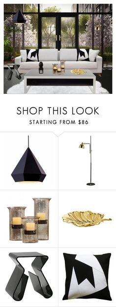 """""""SHE'S GOT HER OWN!"""" by arjanadesign ❤ liked on Polyvore featuring interior, interiors, interior design, home, home decor, interior decorating, Zuo, Oscar de la Renta, livingroom and Home"""