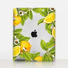 Lemon Transparent iPad Case http://shopcatchingrainbows.com/shop-2/ipad-cases/lemon-transparent-ipad-case/