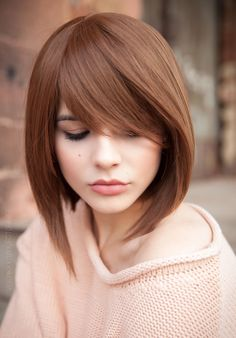 Super new haircuts for season: the TOP 7 of trends for different hair lengths Hairstyles With Bangs, Pretty Hairstyles, Straight Hairstyles, Medium Hair Styles, Short Hair Styles, Bob Styles, Stylish Haircuts, Human Hair Wigs, Short Hair Cuts