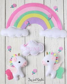 LegaCies and Rainbows Baby Crafts, Felt Crafts, Diy And Crafts, Crafts For Kids, Arts And Crafts, Felt Mobile, Baby Mobile, Craft Projects, Sewing Projects