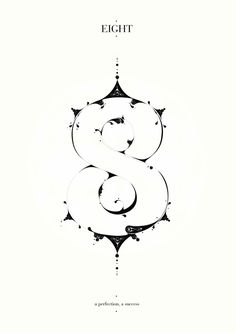 decorative number 8