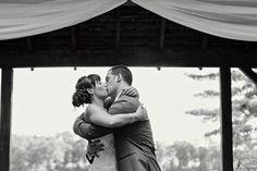 Crystal-Lake-Golf-Club-Lake-Ceremony-First-Kiss  Lefebvre Photo http://lefebvrephoto.com RI Wedding Photographer