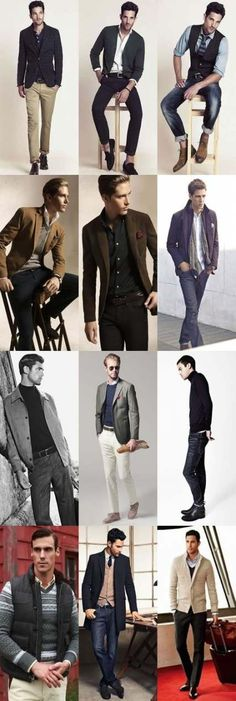 Men's Smart-Casual Outfit Inspiration - lots of great looks here! Gentleman Mode, Gentleman Style, Sharp Dressed Man, Well Dressed Men, Style Casual, Casual Looks, Mens Smart Casual Outfits, Casual Shirts, Smart Casual Menswear