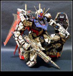 Damaged Strike Gundam