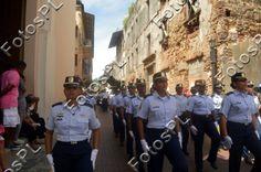La policia femenina en fiestas de la Independencia en Panamá