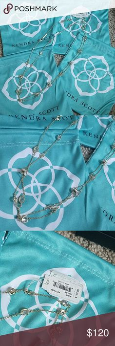 NWT KENDRA scott gold augie necklace Brand new, comes with dust bag and will be packed in a nice box. Sorry no trades. can do other platforms. Kendra Scott Jewelry Necklaces