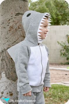 The Crafted Sparrow: DIY Scuba Diver & Shark Costumes